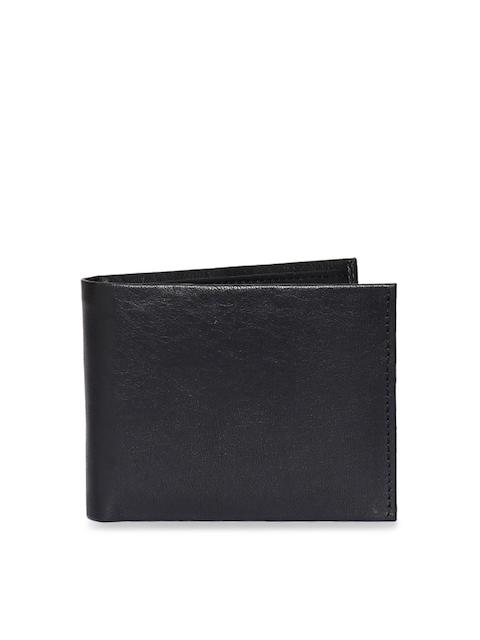 CHISEL Men Black Solid Leather Two Fold Wallet