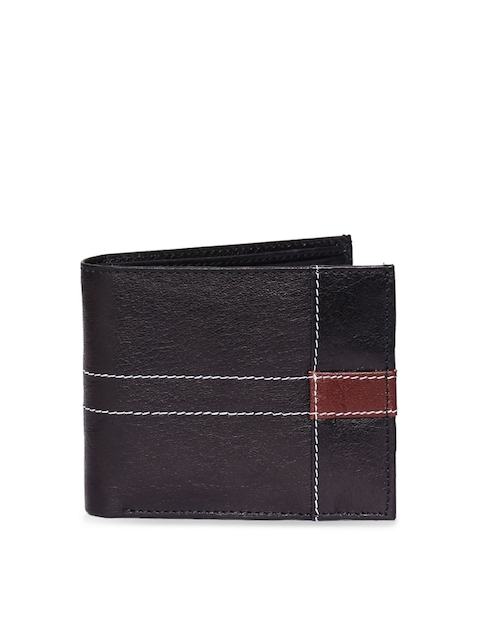 CHISEL Men Black Solid Leather Two Fold Wallet