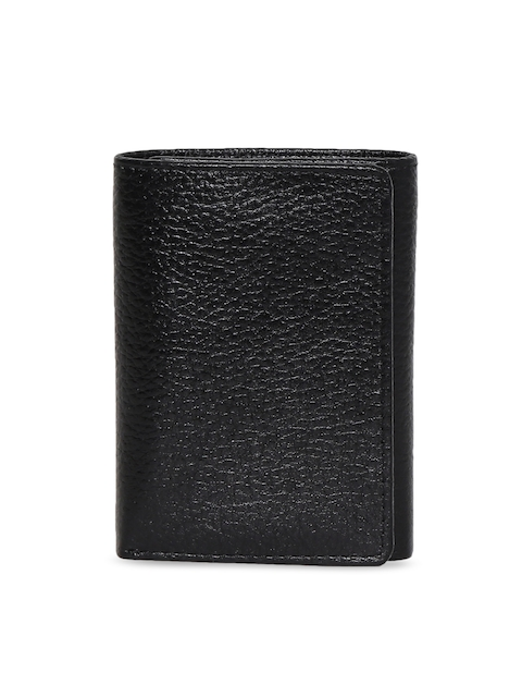 CHISEL Men Black Solid Leather Three Fold Wallet
