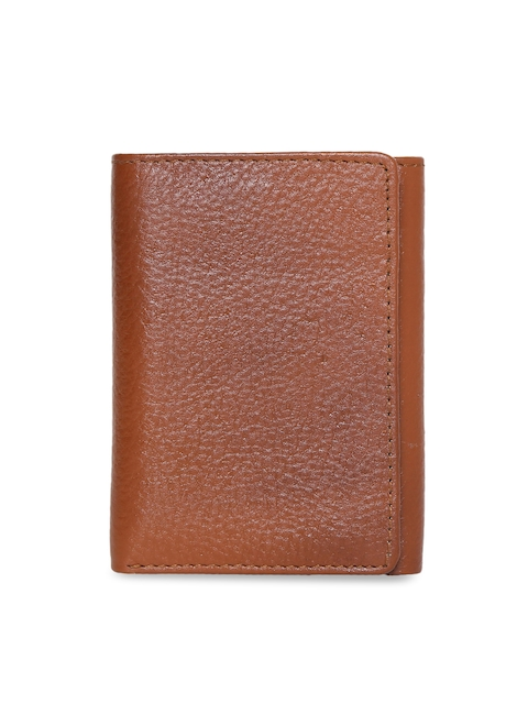 CHISEL Men Tan Brown Solid Leather Three Fold Wallet