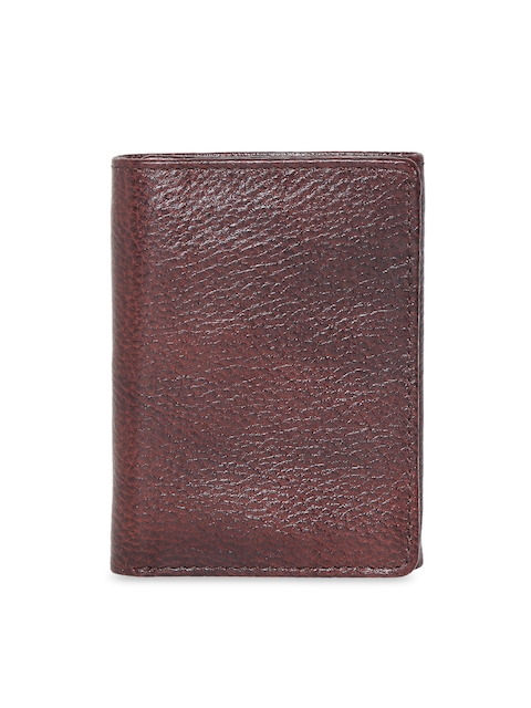 CHISEL Men Brown Solid Leather Three Fold Wallet