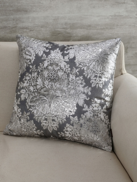 Pure Home and Living Silver-Toned Set of Single Ethnic Motifs Square Cushion Covers