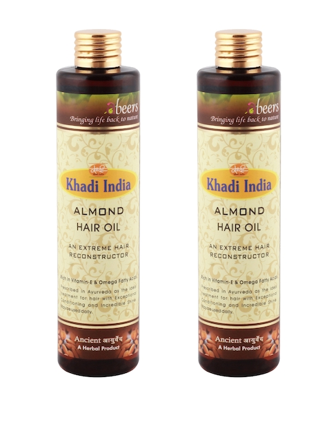 Abeers Khadi Pack of 2 Almond Hair Oil 225 ml