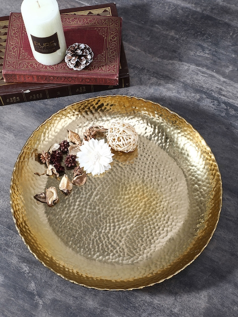 Pure Home and Living Gold-Toned Large Decorative Plate
