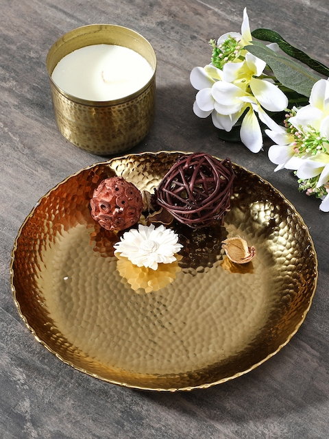 Pure Home and Living Gold- Toned Decorative Plate