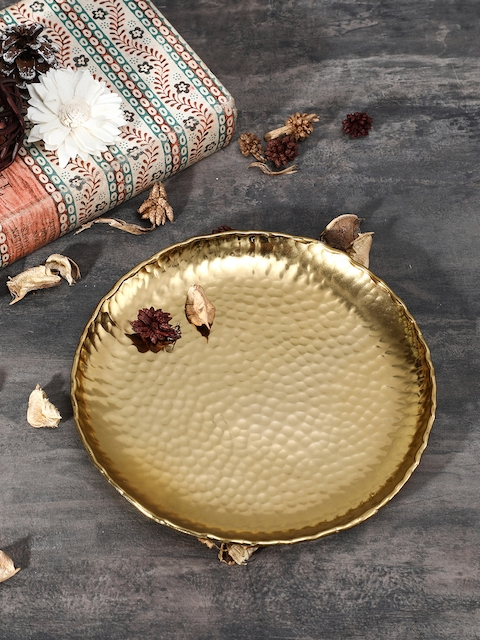 Pure Home and Living Gold Toned Small Hammered Platter