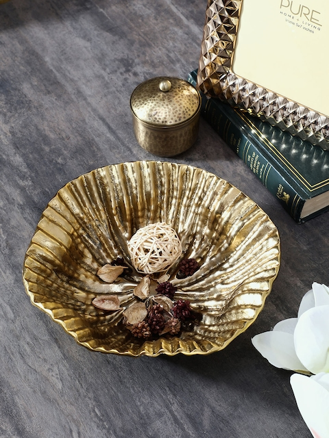 Pure Home and Living Gold Shell Decorative Bowl