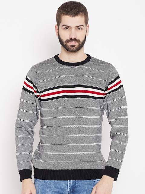 Duke Stardust Men Black & White Striped Pullover