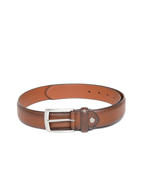 HAMILTON Men Brown Textured Belt