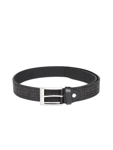 HAMILTON Men Black Solid Belt