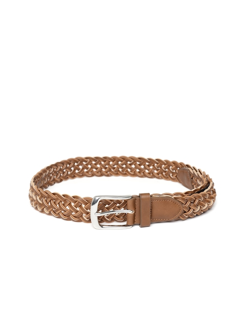 HAMILTON Men Brown Braided Belt