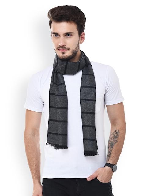 Tossido Men Grey Striped Muffler