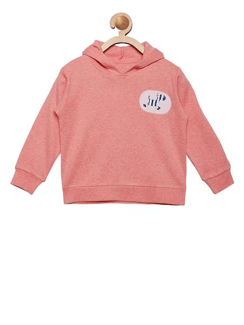 berrytree Unisex Peach-Coloured Solid Hooded Sweatshirt