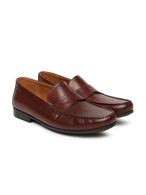 Clarks Men Tan Brown Claude Lane British Semi-Formal Leather Loafers