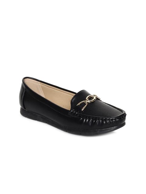 Addons Women Black Loafers