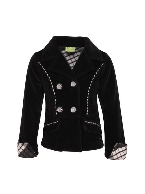 CUTECUMBER Girls Black Pea Coat