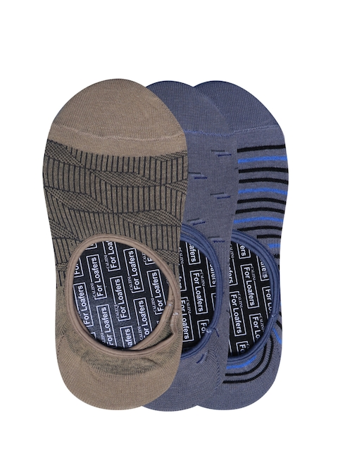 Calzini Men Pack of 3 Muticoloured Patterned Shoe Liners