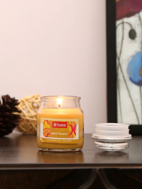 Athome by Nilkamal Set of 4 Yellow Indian Essence Jar Candles