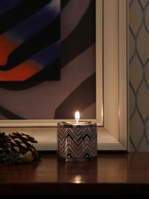 Athome by Nilkamal Set of 3 Black Chunky Fresh Pillar Candles