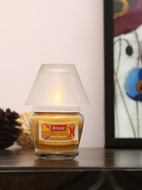 Athome by Nilkamal Set of 2 Yellow Indian Essence Lamp Candles