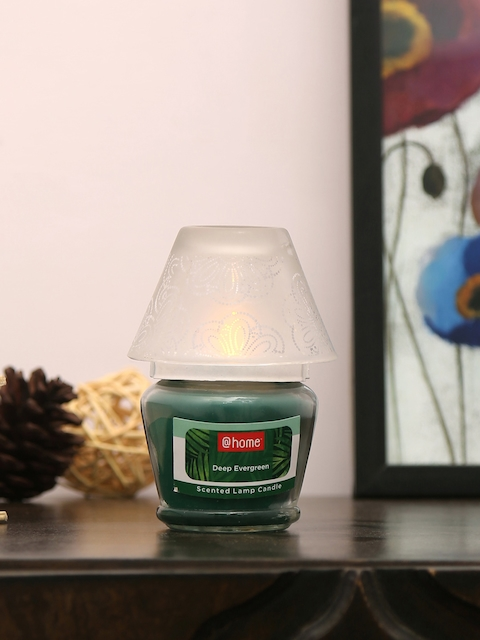 Athome by Nilkamal Set of 2 Green Deep Evergreen Lamp Candles