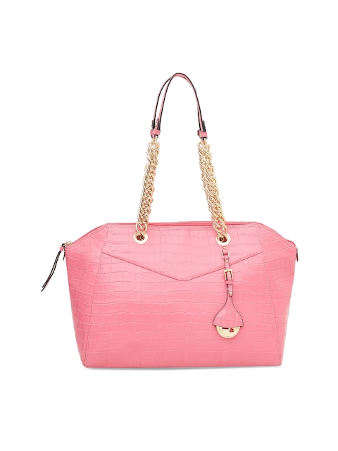 Da Milano Pink Solid Shoulder Bag