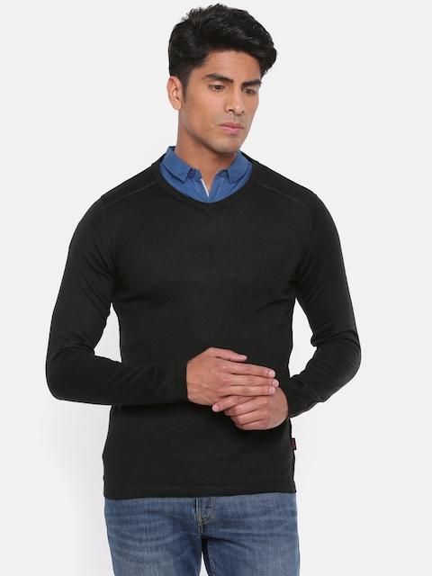 Jack & Jones Men Black Solid Pullover
