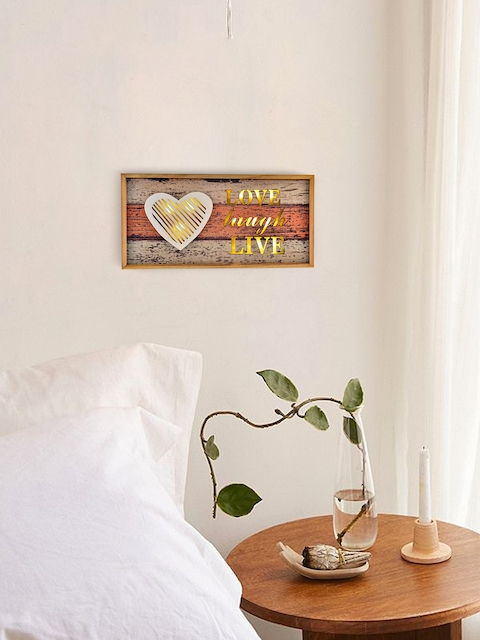 Archies Multicoloured Wooden LED Wall Hanging