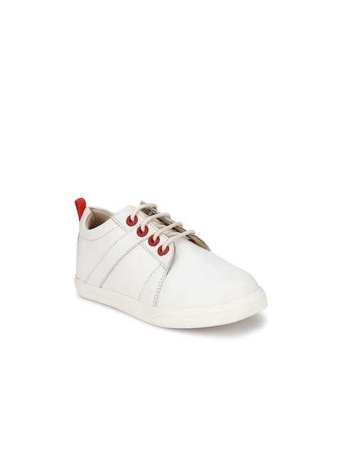 TUSKEY Boys White Loafers
