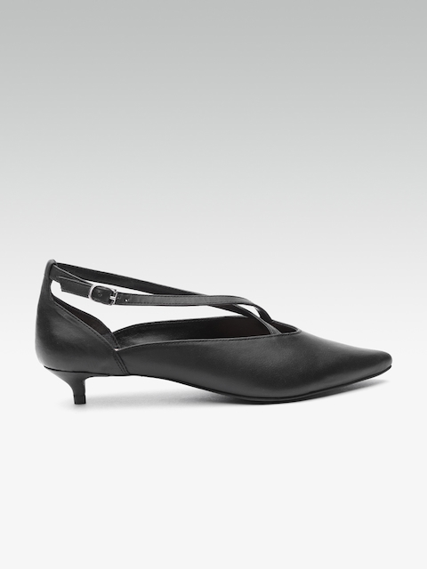 Carlton London Women Black Solid Pumps