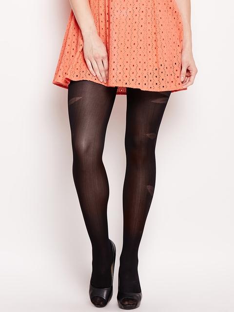 7d272ce0f myntra.com. Apparel   Bottomwear   Stockings. Golden Girl Women Black Self-Design  Stockings