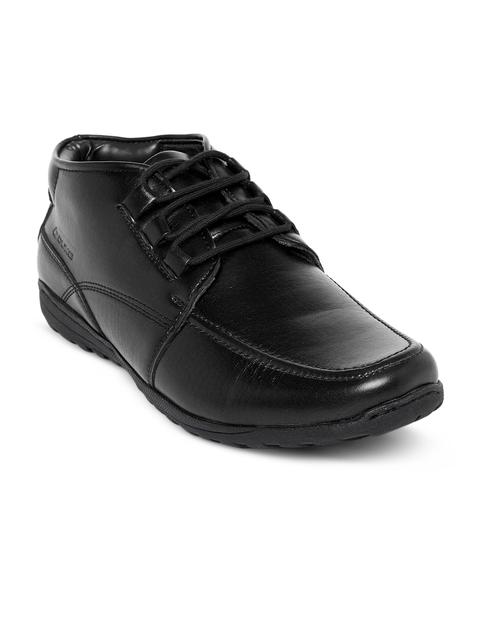 Duke Men Black Flat Boots