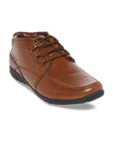 Duke Men Tan Brown Flat Boots