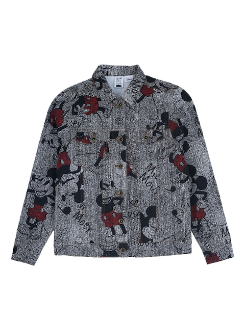 QUANCIOUS Kids Black Printed Lightweight Tailored Jacket