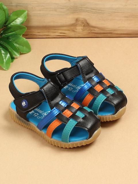 Walktrendy Girls Black Comfort Sandals