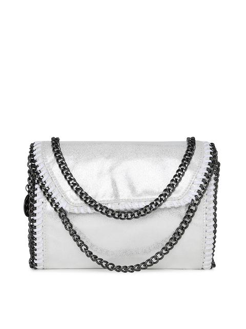 Carlton London White Solid Sling Bag