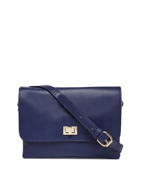 Carlton London Navy Blue Solid Sling Bag