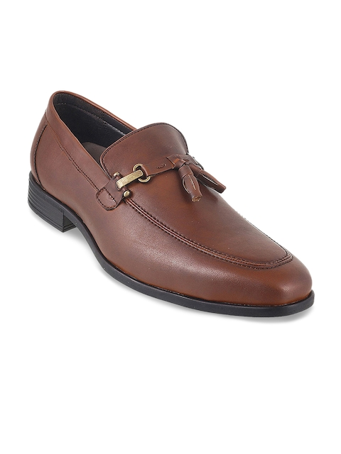Mochi Men Tan Brown Formal Slip-On Shoes