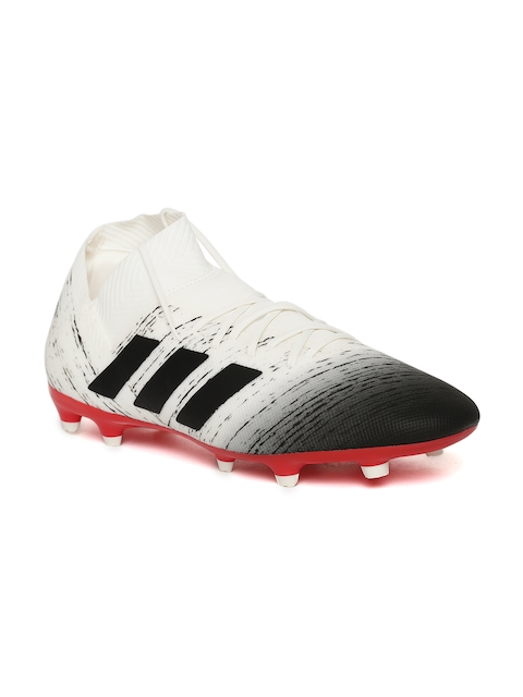 ADIDAS Men White & Black NEMEZIZ Messi 18.3 FG Printed Football Shoes