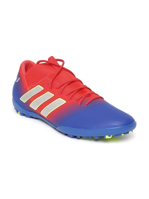 Adidas Men Red & Blue Nemeziz Messi 18.3 TF Football Shoes