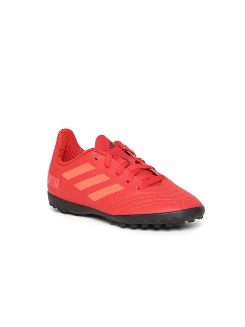 ADIDAS Boys Red Predator 19.4 TF Football Shoes