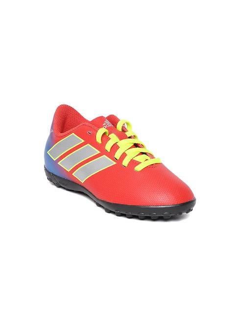 Adidas Boys Red NEMEZIZ Messi 18.4 TF Football Shoes
