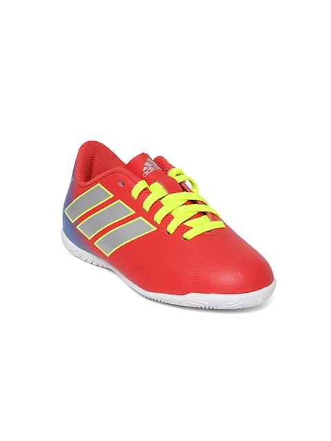 Adidas Boys Red NEMEZIZ Messi 18.4 IN Football Shoes