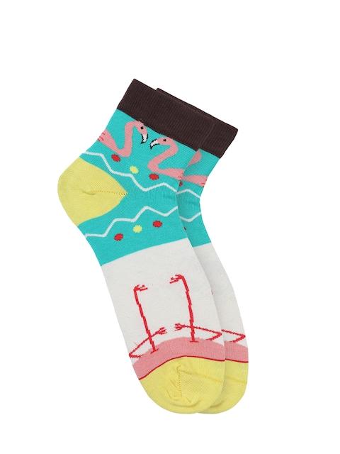 Soxytoes Women Multicoloured Patterned Ankle-Length Socks