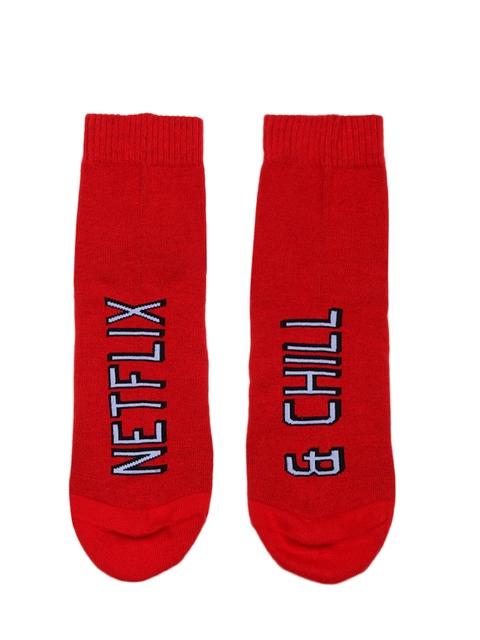 Soxytoes Women Red Patterned Ankle-Length Socks