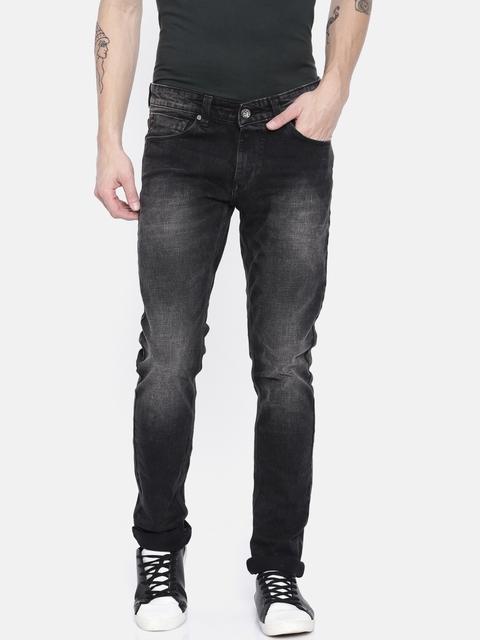 SPYKAR Men Black Ultra Skinny Fit Low-Rise Jeans