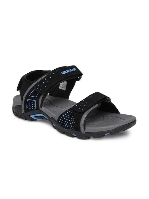 Wildcraft Men Black & Blue Comfort Sandals