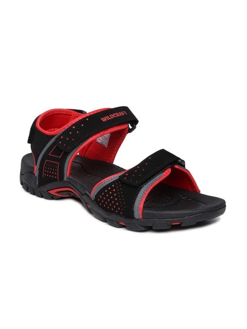 Wildcraft Men Black & Red Comfort Sandals