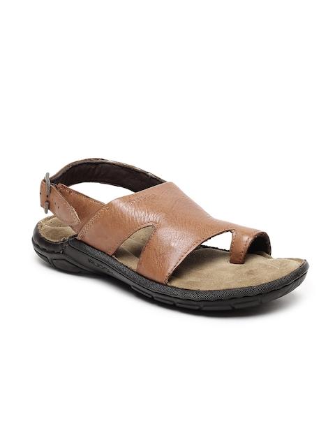 Ruosh Men Tan Comfort Leather Sandals