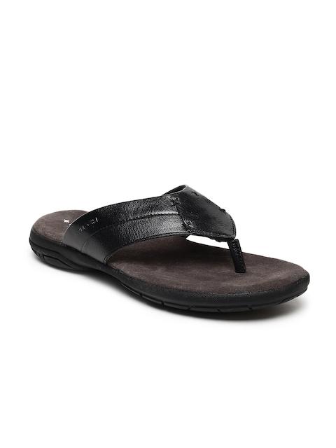 Ruosh Men Black Comfort Sandals